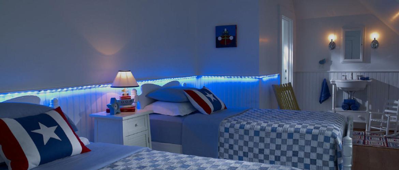Kvalitní osvětlení větší plochy dětského pokoje LED pásky