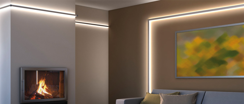 Rámové osvětlení interiéru LED pásky